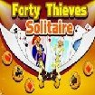 Forty thieves solitaire green felt